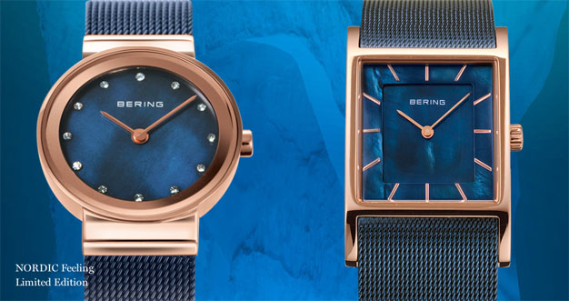 Bering BERING ladies watch 10426-367 Earth Navy Classic carving mesh Swarovski SS+IP mesh belt