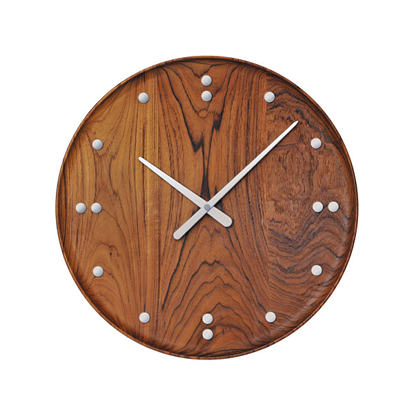 【フィン・ユール】 【Finn Juhl】 クロック 掛け時計 復刻 チーク材 780 径34.5cm フィンユール【正規品】 【送料無料】