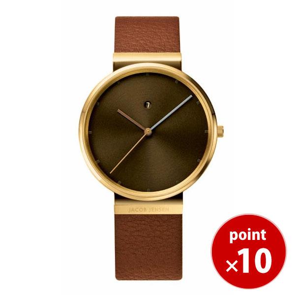 【国内正規品】【ギフト包装無料】ヤコブ・イェンセンJACOB JENSEN Dimensions メンズ 腕時計 844 レザーベルト 【送料無料】