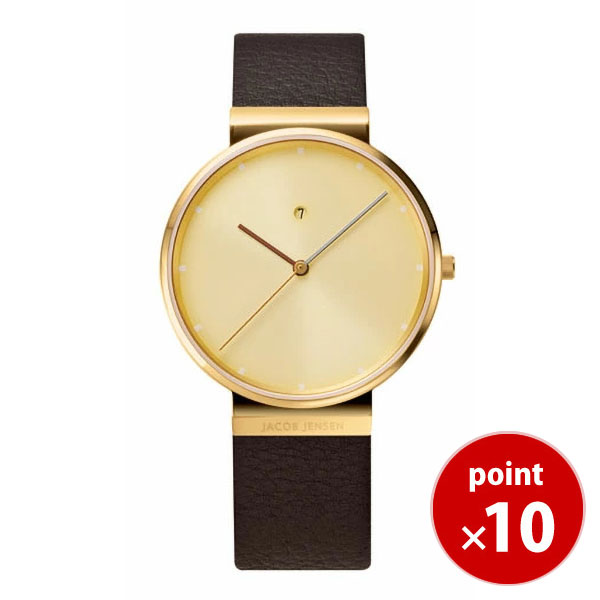 【国内正規品】【ギフト包装無料】ヤコブ・イェンセンJACOB JENSEN Dimensions メンズ 腕時計 845 レザーベルト 【送料無料】