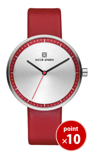 【今だけ50%Off】【直営店限定販売】【国内正規品】【ギフト包装無料】ヤコブイェンセン JACOB JENSEN Strata メンズ・レディース 腕時計 JJ283 カーフレザーベルト 正規品 送料無料