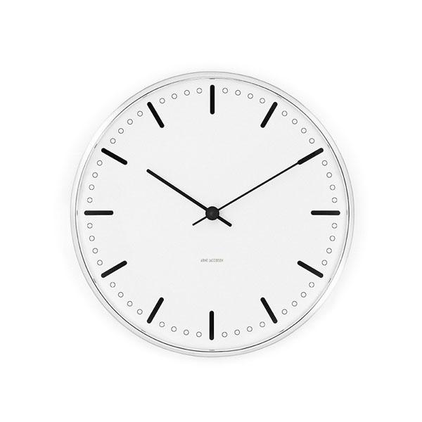 【アルネヤコブセン】【City Hall Clock】 シティーホール クロック 16センチ 43621 【正規品】【送料無料】