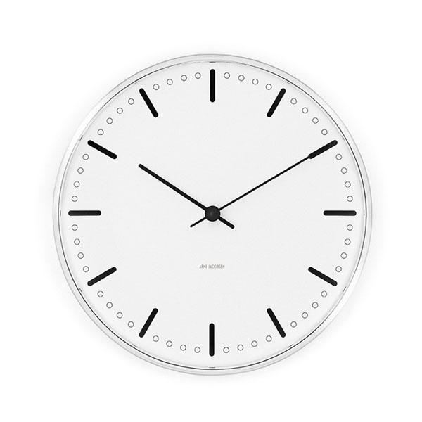 【エントリーでポイント14倍】【アルネヤコブセン】【City Hall Clock】 シティーホール クロック 21センチ 43631 【正規品】【送料無料】
