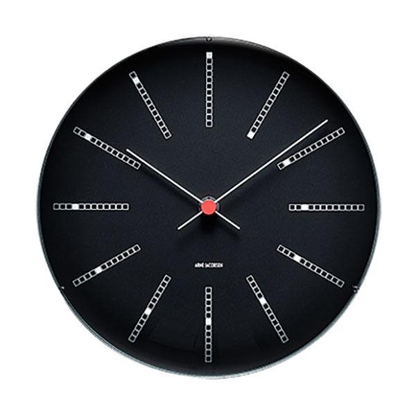 【アルネヤコブセン】【Bankers Clock】 バンカーズ クロック BLACK 29センチ 43640 【正規品】 【送料無料】