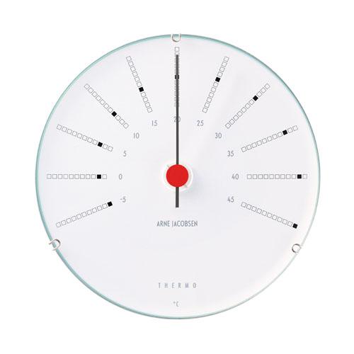 【アルネヤコブセン】【Bankers Clock】 バンカーズ ウェザーステーションシリーズ Thermometer 温度計 43687 12センチ 【正規品】【送料無料】