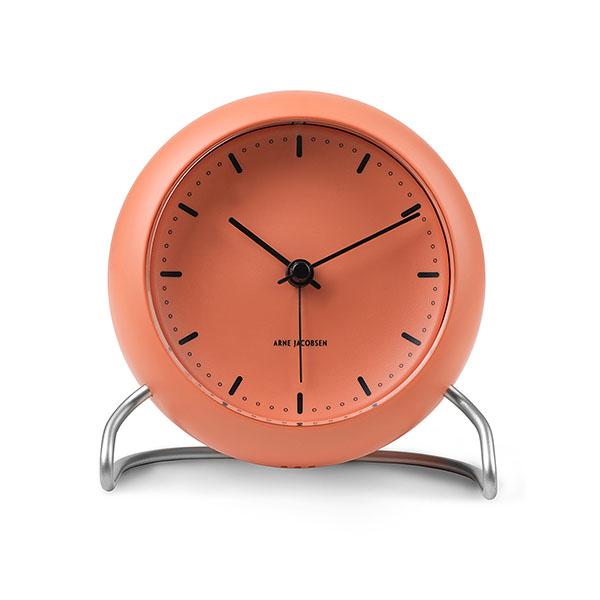 【アルネヤコブセン】【Table Clock】 CITY HALL PALE ORANGE 43692 【正規品】【送料無料】
