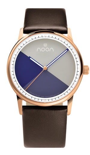 44-034 noon Copenhagen noon copenhagen noon men Lady's combined use watch Jazz Age middle size leather belt disk colors: Blue X white fs04gm