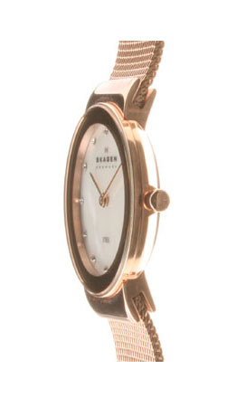 Skagen in SKAGEN ladies watch 358 SRRD Steel Ladies 358 Series Swarovski mesh belt