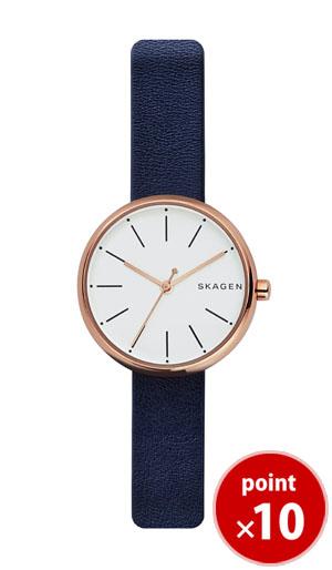 【国内正規品】【ギフト包装無料】スカーゲン SKAGEN レディース SIGNATUR 腕時計 SKW2592 Ladies Leather ネイビーレザーベルト|腕時計  腕時計  腕時計【あす楽対応】