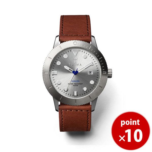 【国内正規品】【ギフト包装無料】トリワ TRIWA メンズ・レディース兼用 腕時計 HVALEN HVST102-SC010212 カレンダー シルバー レザーベルト【あす楽対応】【送料無料】|腕時計 腕時計