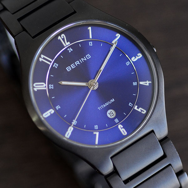 Polabapin badge presents Bering BERING mens watch 11739-727 full link  titanium titanium calendar titanium metal belt