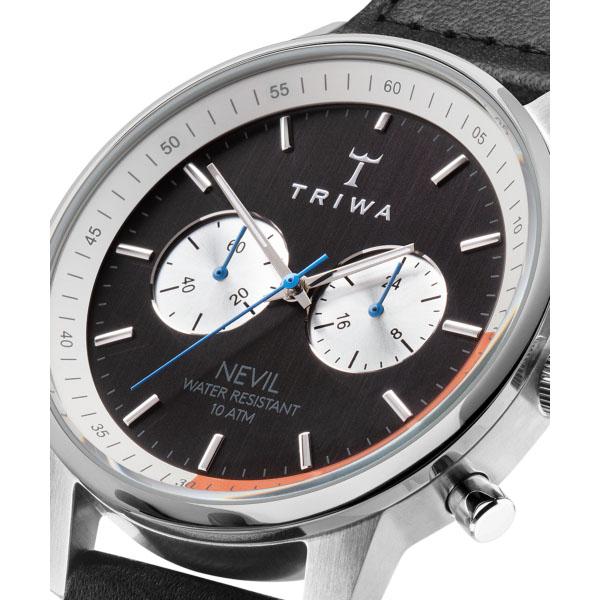 【国内正規品】【ギフト包装無料】トリワ TRIWA メンズ・レディース兼用 腕時計 クロノグラフ STRANGELOVE NEVIL NEST123-SC010112 オーガニックレザーベルト 正規品