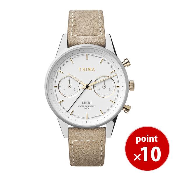 【国内正規品】【ギフト包装無料】トリワ TRIWA メンズ・レディース兼用 腕時計 GLEAM NIKKI NKST101-SW212612P ホワイト×シルバー×ベージュベルト 正規品 送料無料 ヴィーガンレザー あす楽対応