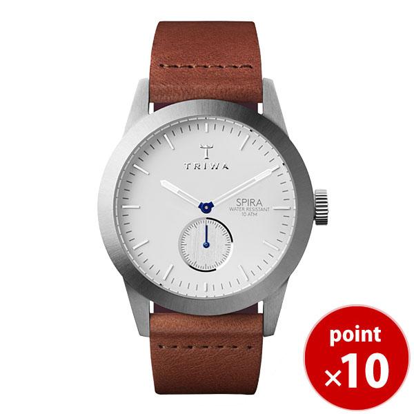 【国内正規品】【ギフト包装無料】トリワ TRIWA メンズ 腕時計 SPIRA IVORY SPST102-CL010212 シルバー オーガニックレザーベルト 【あす楽対応】【送料無料】