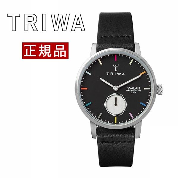 【国内正規品】【ギフト包装無料】トリワ TRIWA レディース 腕時計 直営店限定 VIVID SVALAN BLACK CLASSIC SUPER SLIM SVST108-SS010112 シルバーケース レザーベルト 【送料無料】
