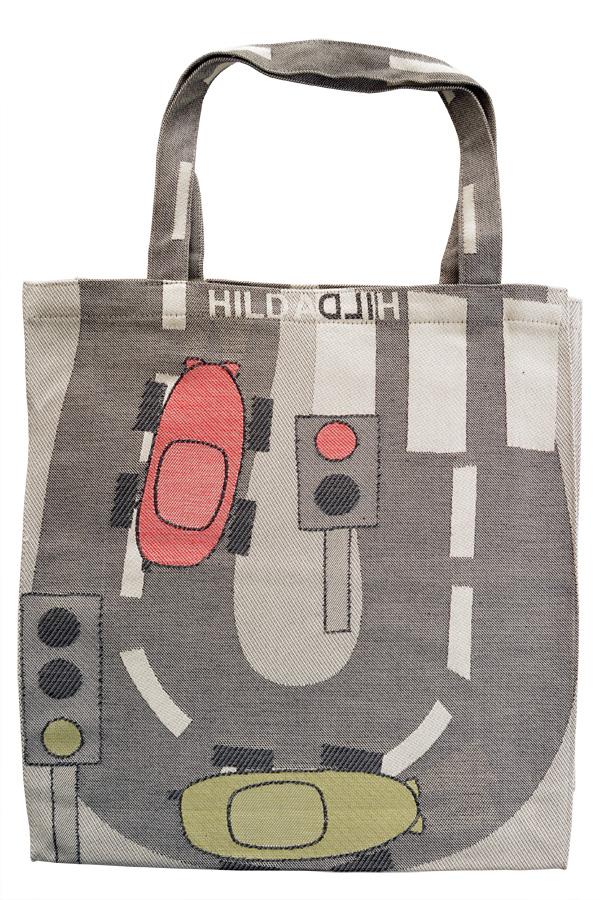 【エントリーでポイント5倍】HildaHilda ヒルダヒルダ スウェーデン製 トートバッグ Lサイズ 車 ショッパーバッグ 北欧 おしゃれ テキスタイル 【正規品】【メール便不可】