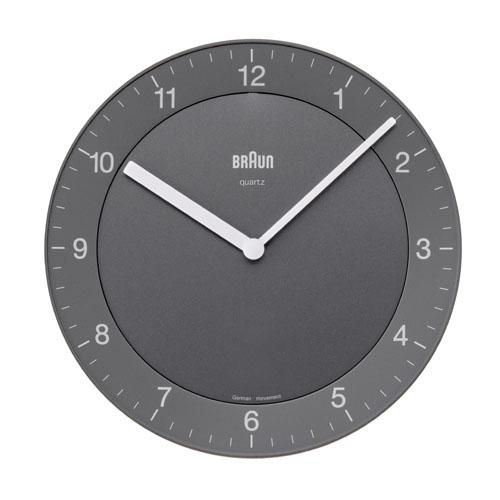 棕色BRAUN挂钟BNC006GYGY-NRC沃尔钟表圆形灰色
