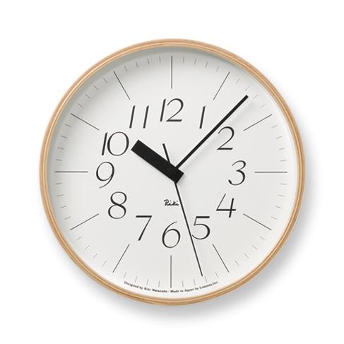 高級な ご用命後お届け予定をご回答 RIKI CLOCK 電波クロック 最安値挑戦 Mサイズ WR20-01 正規品