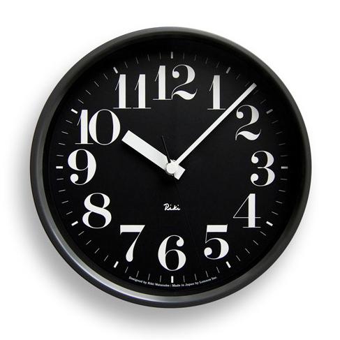 【ご用命後お届け予定をご回答】RIKI STEEL CLOCK 電波クロック スチールSサイズ ブラック WR08-25BK 【正規品】【送料無料】