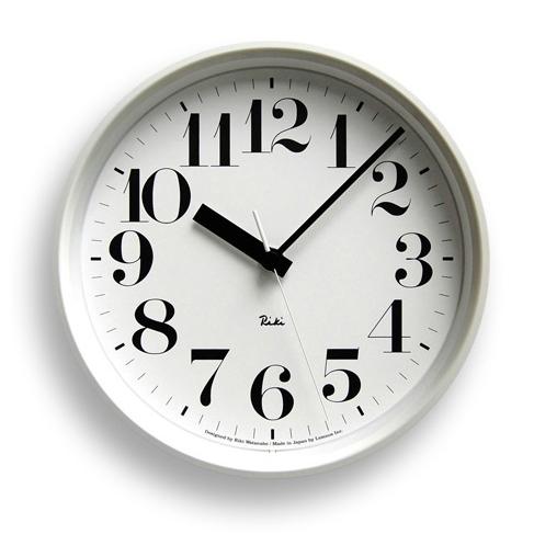 【ご用命後お届け予定をご回答】RIKI STEEL CLOCK 電波クロック スチールSサイズ ホワイト WR08-25WH 【正規品】【送料無料】