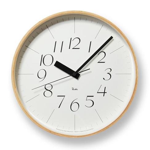 【エントリーでポイント5倍】【納期お問合せください】RIKI CLOCK 電波クロック WR08-26 Lサイズ 【正規品】【送料無料】