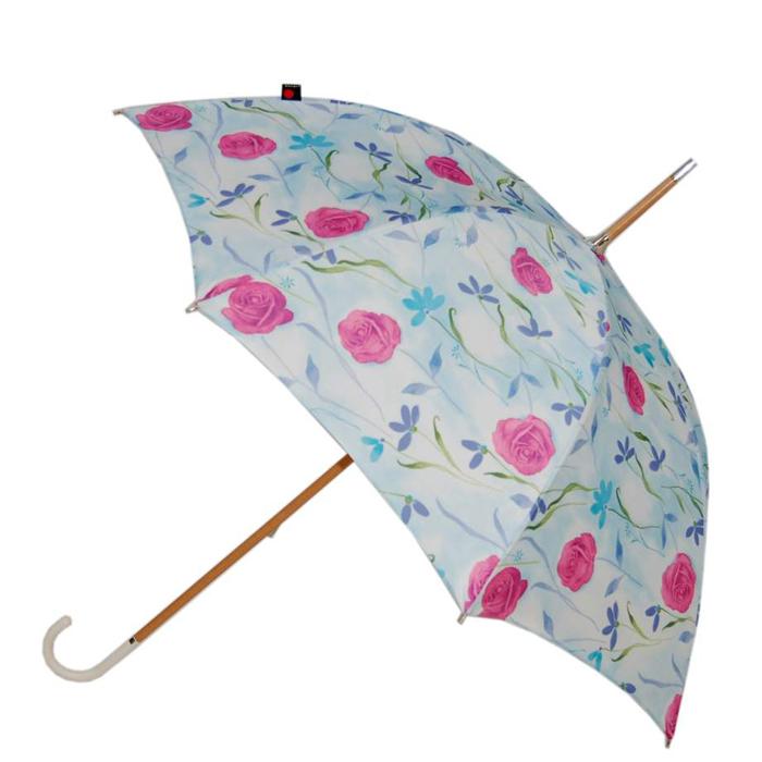 【NUTS別注 世界限定12本】 クニルプス Knirps レディース 長傘 ハンドメイド ウィーンの薔薇 |晴雨兼用 軽量 大きい 折り畳み傘 丈夫あす楽対応
