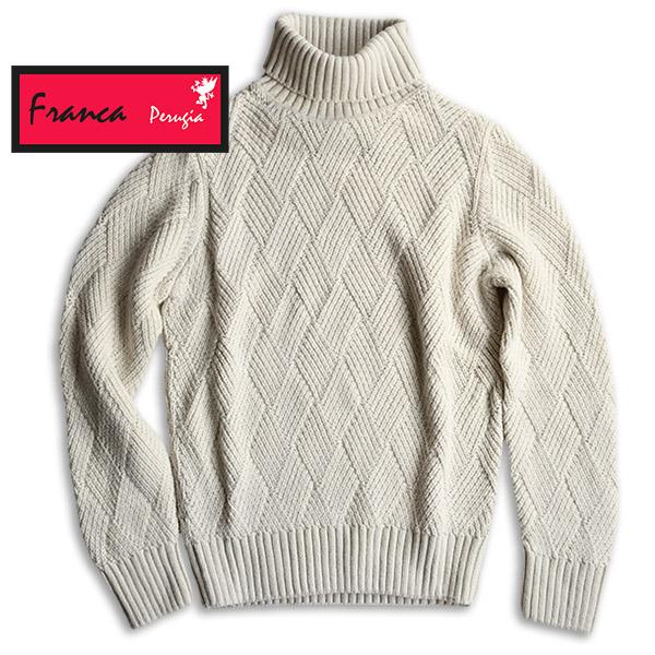 【早割クーポン対象】FRANCA PERUGIA フランカ ペルージャ タートルネックセーター イタリア製 ビジネス カジュアル ITC-JH-059-888 【正規品】