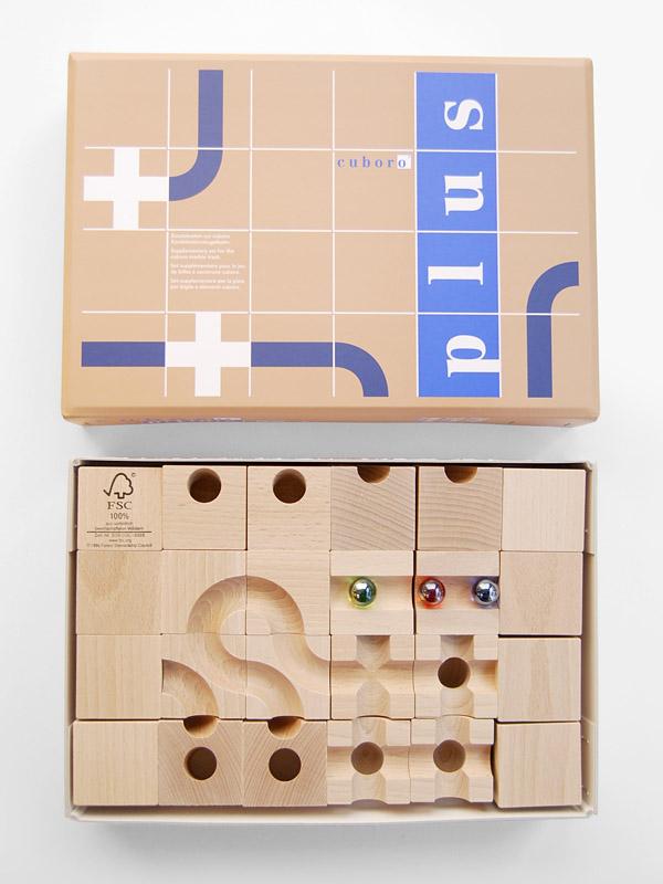 供キュボロ/cuboro製造木製玩具球的塔補充使用的的零件