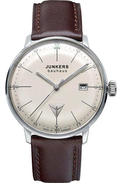 【国内正規品】【ギフト包装無料】ユンカース JUNKERS バウハウス Bauhaus 6070-5QZ メンズ ドイツ製 腕時計 カレンダー アイボリーフェース ダークブラウンレザーベルト|腕時計 時計 メンズ 腕時計 【送料無料】