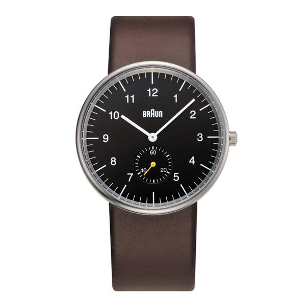 ブラウン BRAUN メンズ 腕時計 BN0024BKBRG ブラック×シルバー×ブラウン スモールセコンド レザーベルト 【正規品】【送料無料】