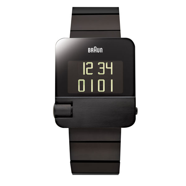 【もれなくアラームクロックプレゼント】ブラウン BRAUN メンズ 腕時計 BN0106BKBTG プレステージコレクション イージースクロール デジタル ブラック メタルベルト 【正規品】【送料無料】