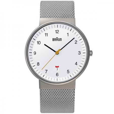 ブラウン BRAUN メンズ 腕時計 BNH0032WHSLMHG カレンダー メッシュベルト 【正規品】【送料無料】