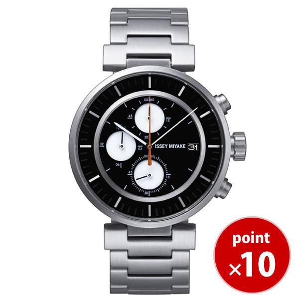 【国内正規品】【ギフト包装無料】イッセイミヤケ ISSEY MIYAKE W ダブリュ クロノグラフ 43mm 和田智 メンズ 腕時計 SILAY001 カレンダー クロノグラフ メタルベルト|腕時計 時計 うでどけい 腕時計【送料無料】