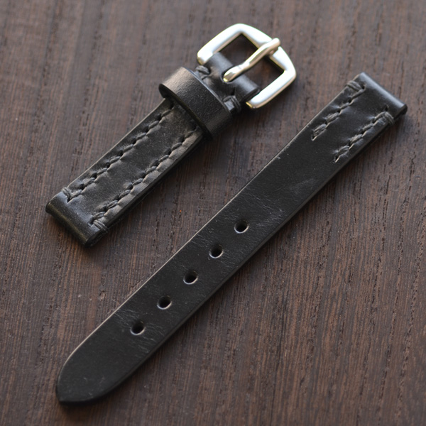 SOMES ソメス 腕時計ストラップ メンズ・レディース兼用 ブライドルレザー ブラック 18mm 【正規品】【送料無料】