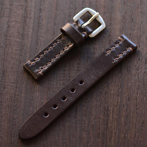 SOMES ソメス 腕時計ストラップ メンズ・レディース兼用 ブライドルレザー ブラウン 18mm スポール SPQR 【正規品】【送料無料】