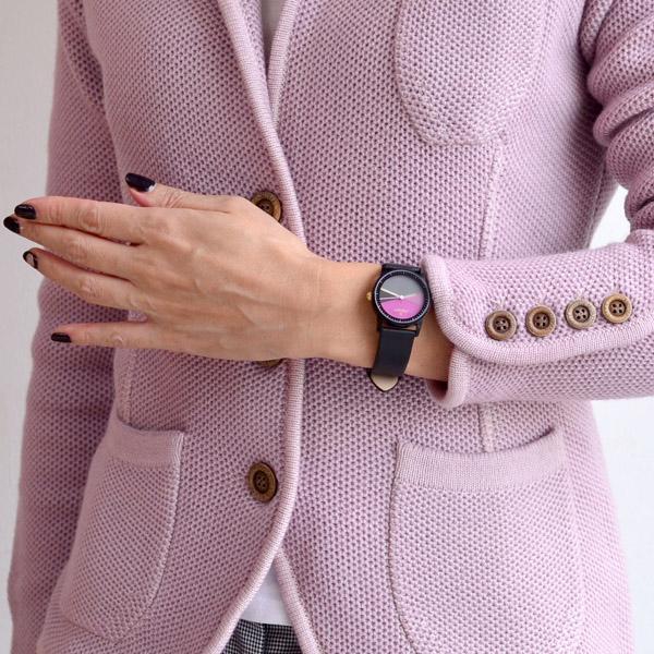 中午哥本哈根中午哥本哈根中午妇女观看爵士乐时代 45-022 小皮带盘颜色: 黑色粉色 / 灰鹰 x | 看时尚皮革皮革妇女