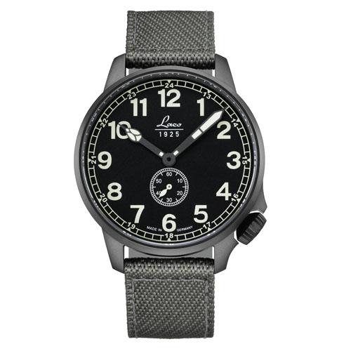【国内正規品】【ギフト包装無料】ラコ LACO コックピットウォッチ JU52 861908 メンズ ドイツ製 自動巻き 腕時計 径42mm グレーナイロンベルト 【送料無料】