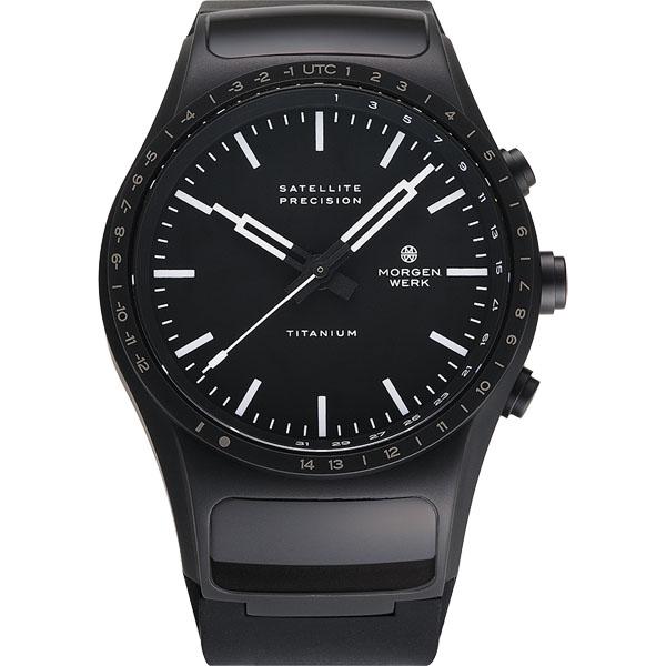 【国内正規品】【ギフト包装無料】モーゲンヴェルク MORGEN WERK 衛星電波時計 M1 TITANIUM M1-3Rubber 世界限定100本 ラバーベルト【送料無料】| 腕時計