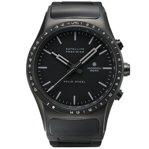 【国内正規品】【ギフト包装無料】モーゲンヴェルク MORGEN WERK 衛星電波時計 M1 SOLID STEEL MW001-22 世界限定100本 メタルベルト|腕時計 時計 腕時計 腕時計 【送料無料】