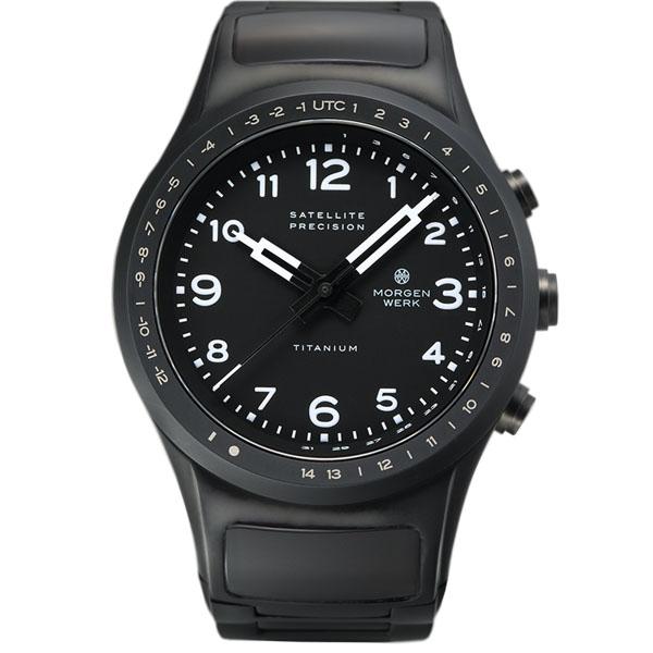 【国内正規品】【ギフト包装無料】モーゲンヴェルク MORGEN WERK 衛星電波時計 M1 TITANIUM MW002-52 世界限定100本 メタルベルト|腕時計 時計 うでどけい ウォッチ 腕時計 おしゃれ【送料無料】