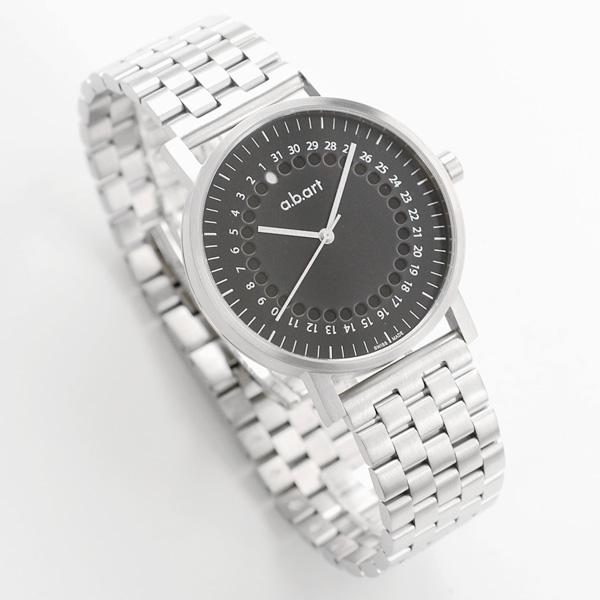 【国内正規品】【ギフト包装無料】エービーアート a.b.art メンズ 腕時計 O102-METAL 正統派 モダン スイス製 メタルバンド ブラックダイヤル 【送料無料】