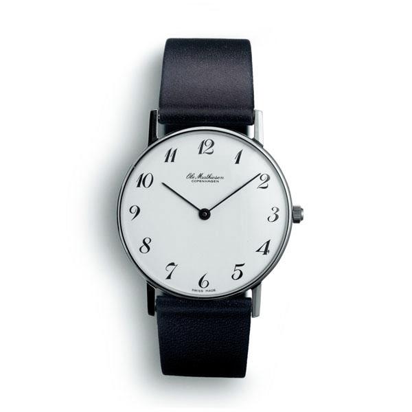 【国内正規品】【ギフト包装無料】【オーレ・マティーセン】 【Ole Mathiesen】 腕時計 直径33mm OMN020011 ユニセックス メンズ・レディース兼用 スイス製 カーフレザーストラップ オーレマティーセン 【送料無料】
