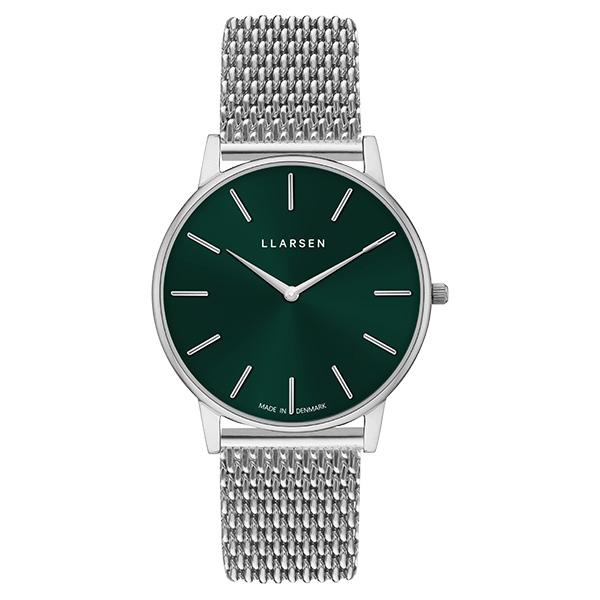 エルラーセン LLARSEN ラースラーセン LARS LARSEN デンマーク製 腕時計 Oliver 【39mm】 メンズ LL147SFSM LW47 グリーンダイヤル×シルバー 送料無料 正規品 あす楽対応