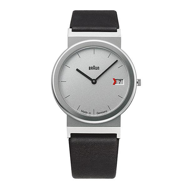 【もれなくアラームクロックプレゼント】ブラウン BRAUN メンズ 腕時計 AW50 復刻 ドイツ製 カレンダー レザーベルト 【正規品】【送料無料】
