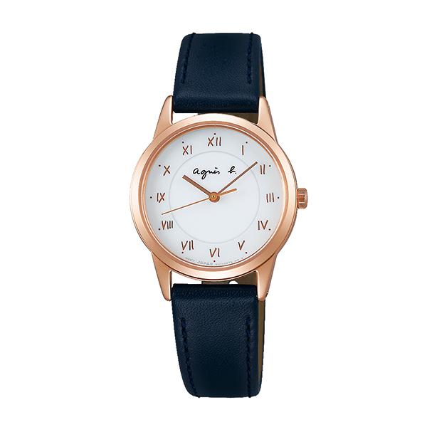 【国内正規品】 アニエスベー ソーラー agnes b. 時計 腕時計 27.6mm ピンクゴールド×ネイビーレザー FBSD940 レディース アニエス・ベー アニエスb. 【送料無料】あす楽対応