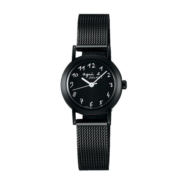 【国内正規品】 アニエスベー マルチェロ ソーラー agnes b. 時計 腕時計 23.9mm ブラック×ブラックメッシュ FBSD943 レディース アニエス・ベー アニエスb. 【送料無料】