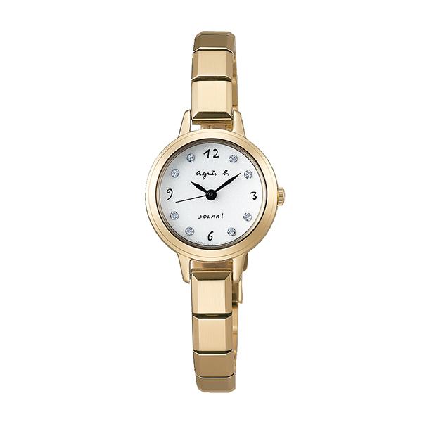 【国内正規品】 アニエスベー ソーラー スワロフスキー agnes b. 時計 腕時計 22mm シャンパンゴールド×メタルブレスレット FBSD949 レディース アニエス・ベー アニエスb. 【送料無料】