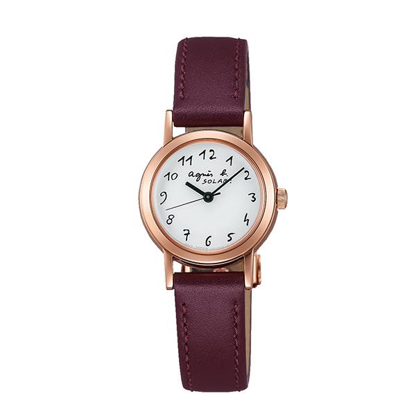【国内正規品】 アニエスベー ソーラー agnes b. 時計 腕時計 23.9mm ピンクゴールド×ボルドーレザー FBSD962 レディース アニエス・ベー アニエスb. 【送料無料】