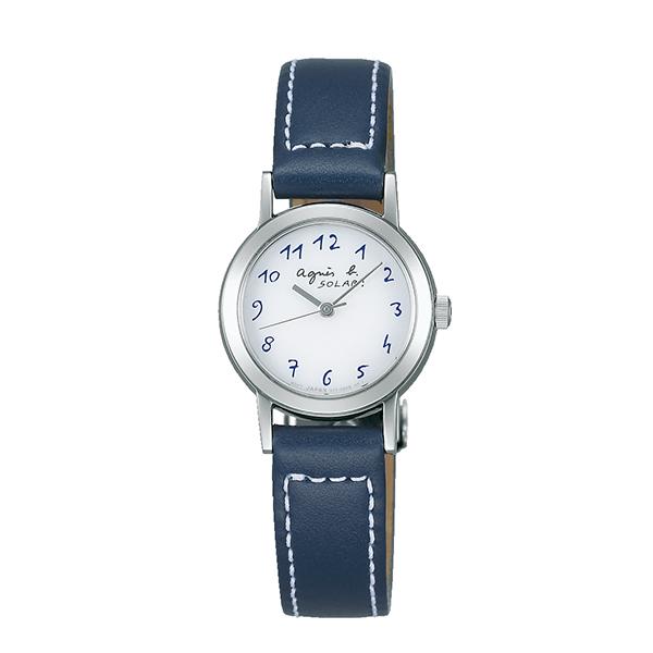 【国内正規品】 アニエスベー ソーラー agnes b. 時計 腕時計 23.9mm シルバー×ネイビーレザー FBSD981 レディース アニエス・ベー アニエスb. 【送料無料】