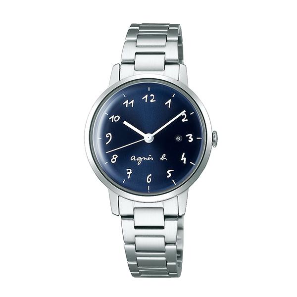 【国内正規品】 アニエスベー マルチェロ カレンダー agnes b. marcello 時計 腕時計 30mm シルバー×ネイビー FCSK934 レディース アニエス・ベー アニエスb. 【送料無料】あす楽対応